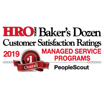 HRO Today Baker's Dozen 2019 Managed Service Programs Winner