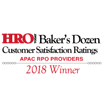 HRO Today Baker's Dozen 2018 APAC RPO Winner
