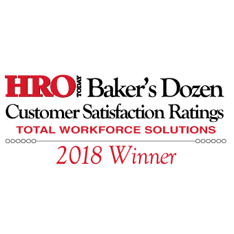 HRO Today Baker's Dozen 2018 Total Workforce Solutions Winner