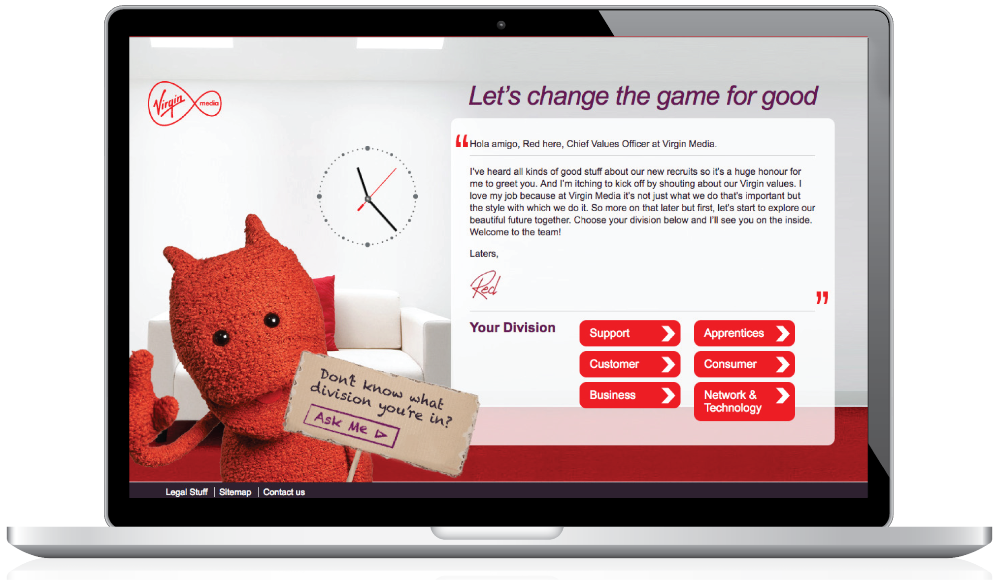Virgin media onboarding website