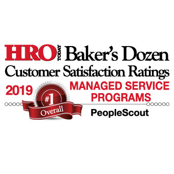 HRO Today Baker's Dozen 2019 Managed Service Programs Winner
