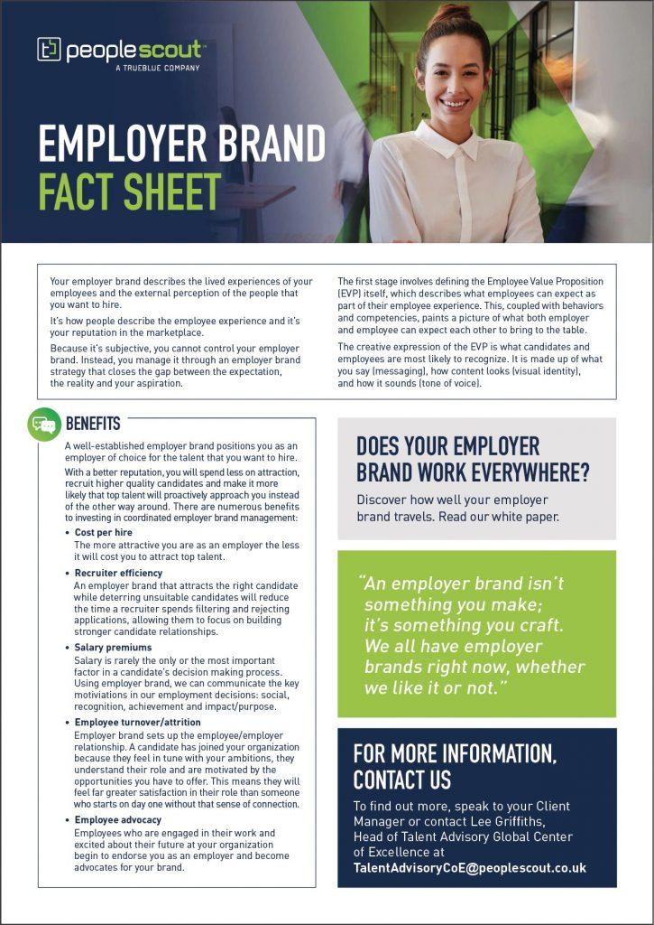employer brand fact sheet