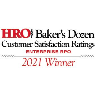 2021 HRO Today Baker's Dozen Enterprise RPO