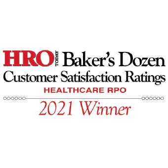 2021 HRO Today Baker's Dozen Healthcare RPO